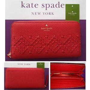 BNWT Kate Spade Wallet Large zip  around Neda Flyn